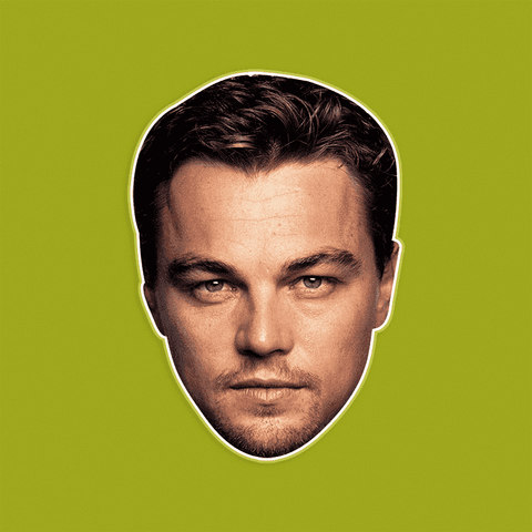 Angry Leonardo DiCaprio Mask by RapMasks