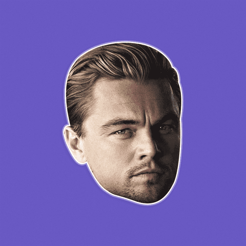 Cool Leonardo DiCaprio Mask - Perfect for Halloween, Costume Party Mask, Masquerades, Parties, Festivals, Concerts - Jumbo Size Waterproof Laminated Mask
