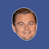 Happy Leonardo DiCaprio Mask - Perfect for Halloween, Costume Party Mask, Masquerades, Parties, Festivals, Concerts - Jumbo Size Waterproof Laminated Mask