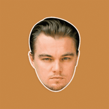 Neutral Leonardo DiCaprio Mask - Perfect for Halloween, Costume Party Mask, Masquerades, Parties, Festivals, Concerts - Jumbo Size Waterproof Laminated Mask