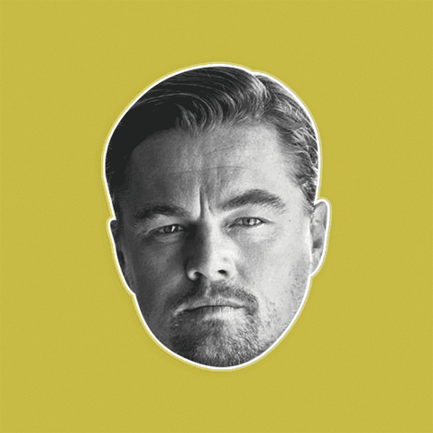 Serious Leonardo DiCaprio Mask - Perfect for Halloween, Costume Party Mask, Masquerades, Parties, Festivals, Concerts - Jumbo Size Waterproof Laminated Mask