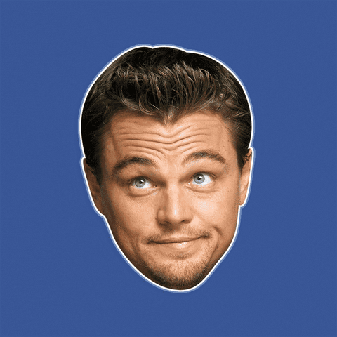 Silly Leonardo DiCaprio Mask - Perfect for Halloween, Costume Party Mask, Masquerades, Parties, Festivals, Concerts - Jumbo Size Waterproof Laminated Mask