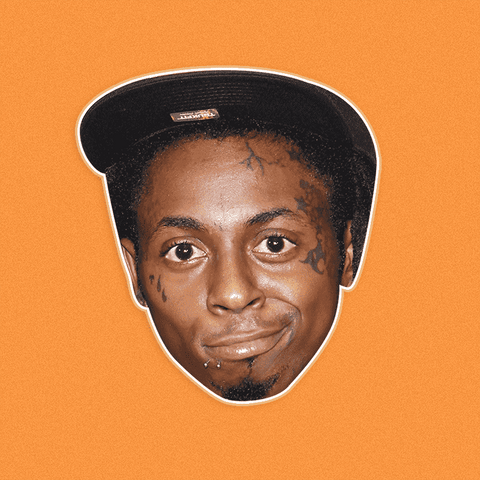 Silly Lil Wayne Mask - Perfect for Halloween, Costume Party Mask, Masquerades, Parties, Festivals, Concerts - Jumbo Size Waterproof Laminated Mask