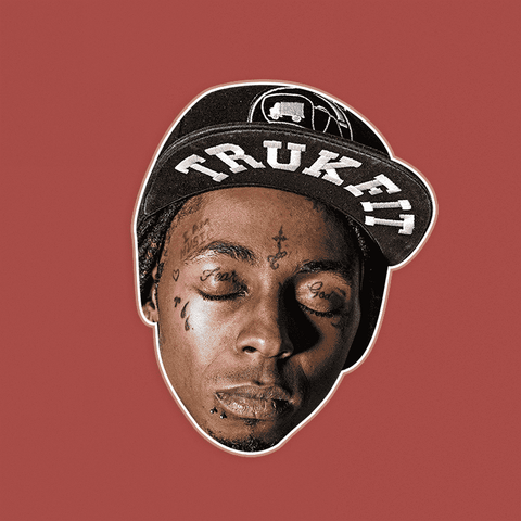 Sleepy Lil Wayne Mask - Perfect for Halloween, Costume Party Mask, Masquerades, Parties, Festivals, Concerts - Jumbo Size Waterproof Laminated Mask