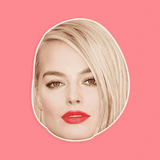 Cool Margot Robbie Mask - Perfect for Halloween, Costume Party Mask, Masquerades, Parties, Festivals, Concerts - Jumbo Size Waterproof Laminated Mask