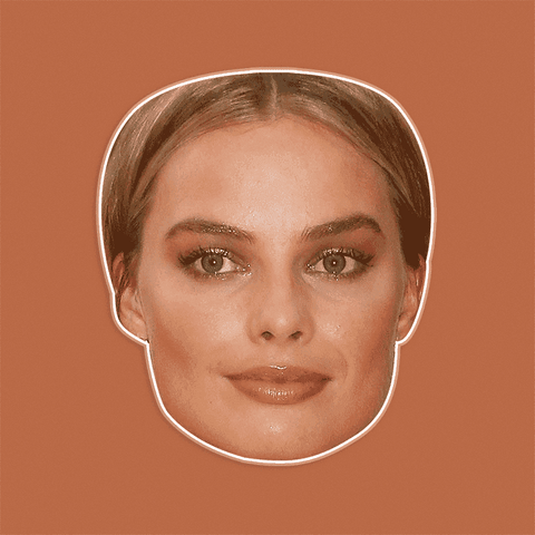 Neutral Margot Robbie Mask - Perfect for Halloween, Costume Party Mask, Masquerades, Parties, Festivals, Concerts - Jumbo Size Waterproof Laminated Mask