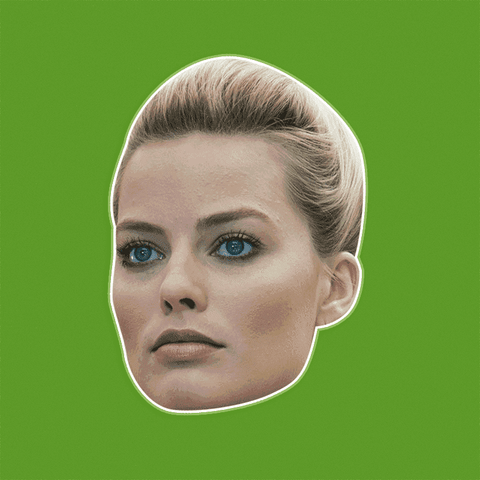 Serious Margot Robbie Mask - Perfect for Halloween, Costume Party Mask, Masquerades, Parties, Festivals, Concerts - Jumbo Size Waterproof Laminated Mask