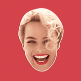 Surprised Margot Robbie Mask - Perfect for Halloween, Costume Party Mask, Masquerades, Parties, Festivals, Concerts - Jumbo Size Waterproof Laminated Mask