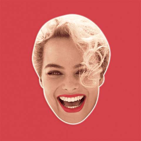 Surprised Margot Robbie Mask by RapMasks