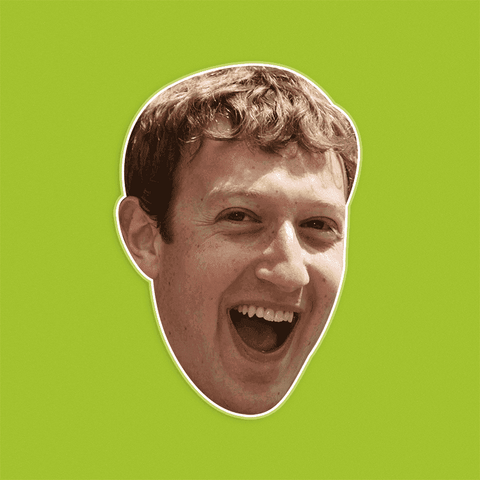 Excited Mark Zuckerberg Mask by RapMasks