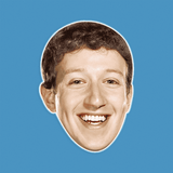 Surprised Mark Zuckerberg Mask - Perfect for Halloween, Costume Party Mask, Masquerades, Parties, Festivals, Concerts - Jumbo Size Waterproof Laminated Mask