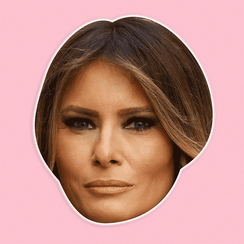Disgusted Melania Trump Mask - Perfect for Halloween, Costume Party Mask, Masquerades, Parties, Festivals, Concerts - Jumbo Size Waterproof Laminated Mask