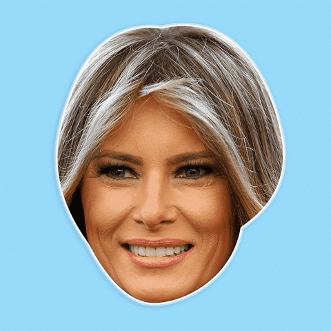 Happy Melania Trump Mask - Perfect for Halloween, Costume Party Mask, Masquerades, Parties, Festivals, Concerts - Jumbo Size Waterproof Laminated Mask