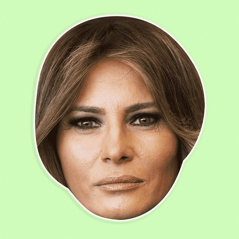 Silly Melania Trump Mask - Perfect for Halloween, Costume Party Mask, Masquerades, Parties, Festivals, Concerts - Jumbo Size Waterproof Laminated Mask