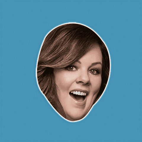 Cool Melissa McCarthy Mask - Perfect for Halloween, Costume Party Mask, Masquerades, Parties, Festivals, Concerts - Jumbo Size Waterproof Laminated Mask