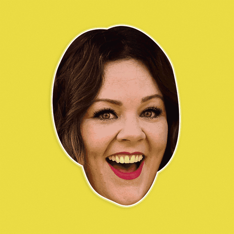 Excited Melissa McCarthy Mask - Perfect for Halloween, Costume Party Mask, Masquerades, Parties, Festivals, Concerts - Jumbo Size Waterproof Laminated Mask