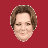 Sexy Melissa McCarthy Mask - Perfect for Halloween, Costume Party Mask, Masquerades, Parties, Festivals, Concerts - Jumbo Size Waterproof Laminated Mask