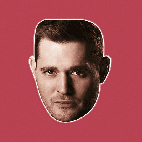 Angry Michael Buble Mask - Perfect for Halloween, Costume Party Mask, Masquerades, Parties, Festivals, Concerts - Jumbo Size Waterproof Laminated Mask