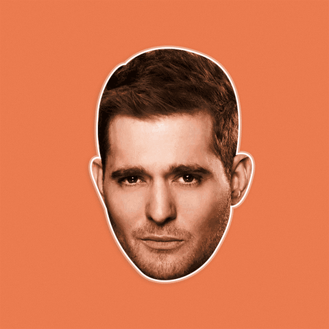 Bored Michael Buble Mask by RapMasks