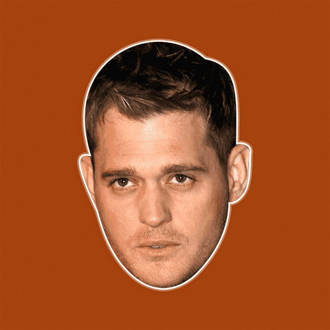 Confused Michael Buble Mask - Perfect for Halloween, Costume Party Mask, Masquerades, Parties, Festivals, Concerts - Jumbo Size Waterproof Laminated Mask