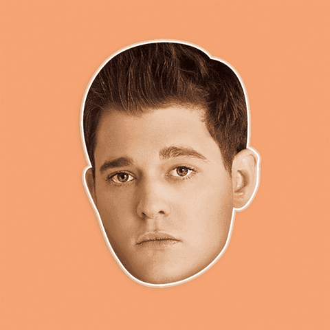 Cool Michael Buble Mask - Perfect for Halloween, Costume Party Mask, Masquerades, Parties, Festivals, Concerts - Jumbo Size Waterproof Laminated Mask