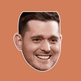 Happy Michael Buble Mask - Perfect for Halloween, Costume Party Mask, Masquerades, Parties, Festivals, Concerts - Jumbo Size Waterproof Laminated Mask