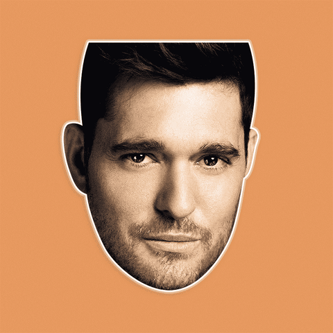 Sexy Michael Buble Mask - Perfect for Halloween, Costume Party Mask, Masquerades, Parties, Festivals, Concerts - Jumbo Size Waterproof Laminated Mask