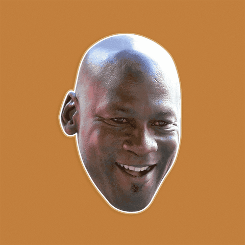 Happy Michael Jordan Mask - Perfect for Halloween, Costume Party Mask, Masquerades, Parties, Festivals, Concerts - Jumbo Size Waterproof Laminated Mask