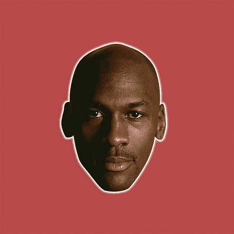 Serious Michael Jordan Mask - Perfect for Halloween, Costume Party Mask, Masquerades, Parties, Festivals, Concerts - Jumbo Size Waterproof Laminated Mask