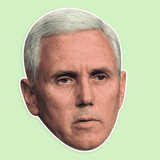 Confused Mike Pence Mask - Perfect for Halloween, Costume Party Mask, Masquerades, Parties, Festivals, Concerts - Jumbo Size Waterproof Laminated Mask