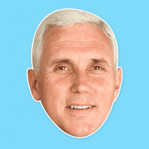 Cool Mike Pence Mask - Perfect for Halloween, Costume Party Mask, Masquerades, Parties, Festivals, Concerts - Jumbo Size Waterproof Laminated Mask