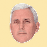 Neutral Mike Pence Mask - Perfect for Halloween, Costume Party Mask, Masquerades, Parties, Festivals, Concerts - Jumbo Size Waterproof Laminated Mask