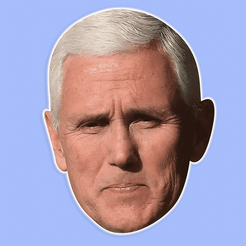 Surprised Mike Pence Mask - Perfect for Halloween, Costume Party Mask, Masquerades, Parties, Festivals, Concerts - Jumbo Size Waterproof Laminated Mask