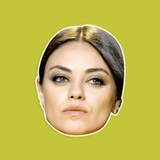 Angry Mila Kunis Mask - Perfect for Halloween, Costume Party Mask, Masquerades, Parties, Festivals, Concerts - Jumbo Size Waterproof Laminated Mask