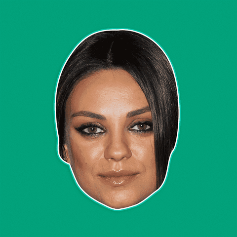 Bored Mila Kunis Mask - Perfect for Halloween, Costume Party Mask, Masquerades, Parties, Festivals, Concerts - Jumbo Size Waterproof Laminated Mask