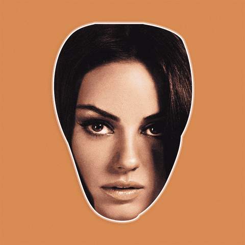 Confused Mila Kunis Mask - Perfect for Halloween, Costume Party Mask, Masquerades, Parties, Festivals, Concerts - Jumbo Size Waterproof Laminated Mask