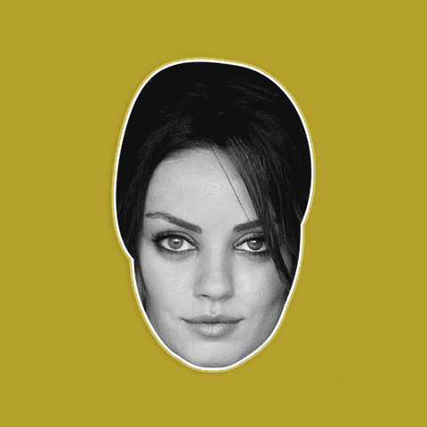 Disgusted Mila Kunis Mask - Perfect for Halloween, Costume Party Mask, Masquerades, Parties, Festivals, Concerts - Jumbo Size Waterproof Laminated Mask