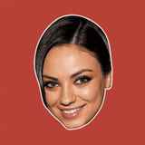 Excited Mila Kunis Mask - Perfect for Halloween, Costume Party Mask, Masquerades, Parties, Festivals, Concerts - Jumbo Size Waterproof Laminated Mask