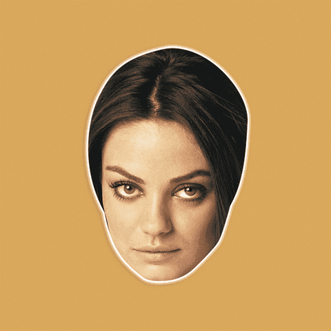 Serious Mila Kunis Mask - Perfect for Halloween, Costume Party Mask, Masquerades, Parties, Festivals, Concerts - Jumbo Size Waterproof Laminated Mask