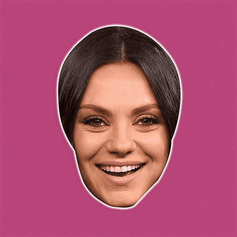 Surprised Mila Kunis Mask - Perfect for Halloween, Costume Party Mask, Masquerades, Parties, Festivals, Concerts - Jumbo Size Waterproof Laminated Mask