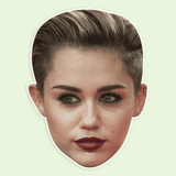 Angry Miley Cyrus Mask - Perfect for Halloween, Costume Party Mask, Masquerades, Parties, Festivals, Concerts - Jumbo Size Waterproof Laminated Mask