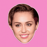 Neutral Miley Cyrus Mask - Perfect for Halloween, Costume Party Mask, Masquerades, Parties, Festivals, Concerts - Jumbo Size Waterproof Laminated Mask