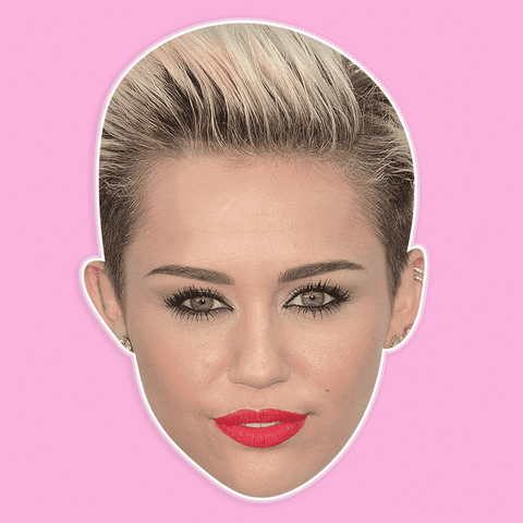 Serious Miley Cyrus Mask - Perfect for Halloween, Costume Party Mask, Masquerades, Parties, Festivals, Concerts - Jumbo Size Waterproof Laminated Mask