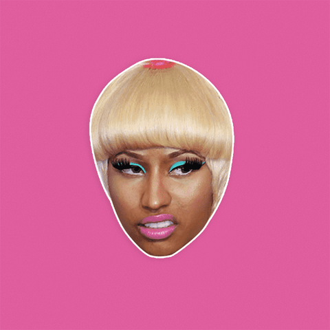 Disgusted Nicki Minaj Mask - Perfect for Halloween, Costume Party Mask, Masquerades, Parties, Festivals, Concerts - Jumbo Size Waterproof Laminated Mask