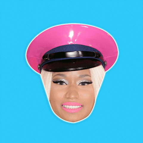 Glamorous Nicki Minaj Mask - Perfect for Halloween, Costume Party Mask, Masquerades, Parties, Festivals, Concerts - Jumbo Size Waterproof Laminated Mask