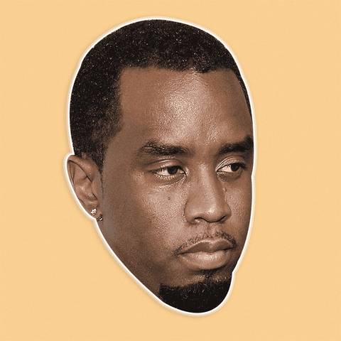 Angry P Diddy Mask - Perfect for Halloween, Costume Party Mask, Masquerades, Parties, Festivals, Concerts - Jumbo Size Waterproof Laminated Mask