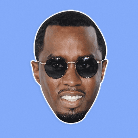 Silly P Diddy Mask - Perfect for Halloween, Costume Party Mask, Masquerades, Parties, Festivals, Concerts - Jumbo Size Waterproof Laminated Mask
