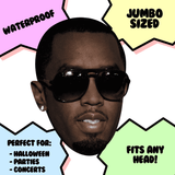 Sexy P Diddy Mask - Perfect for Halloween, Costume Party Mask, Masquerades, Parties, Festivals, Concerts - Jumbo Size Waterproof Laminated Mask