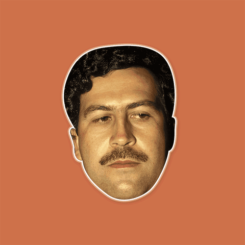 Angry Pablo Escobar Mask by RapMasks
