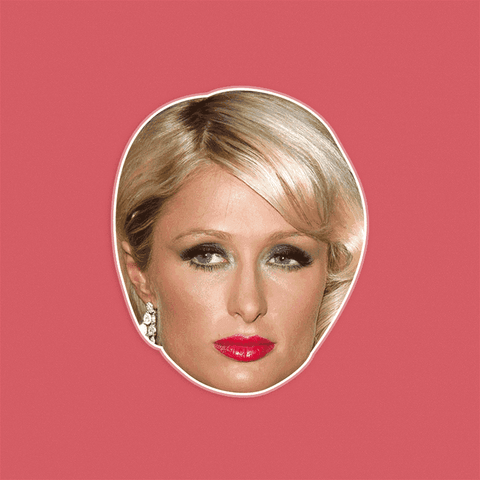 Angry Paris Hilton Mask - Perfect for Halloween, Costume Party Mask, Masquerades, Parties, Festivals, Concerts - Jumbo Size Waterproof Laminated Mask